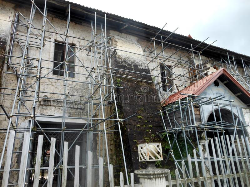 Loboc kyrka, Filippinerna royaltyfria bilder