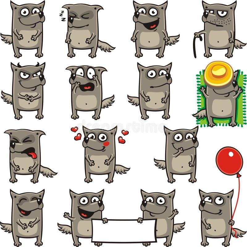 Lobos divertidos (2) libre illustration
