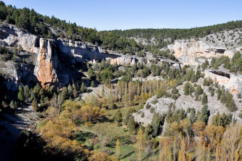 Lobos flodkanjon, Soria (Spanien) royaltyfri foto