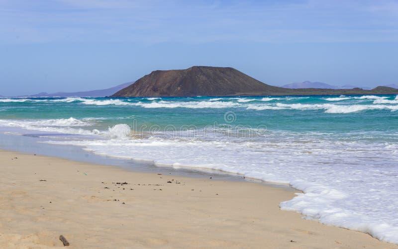 Lobos Insel: Dünen in Corralejo, Fuerteventura, Kanarische Insel lizenzfreies stockfoto