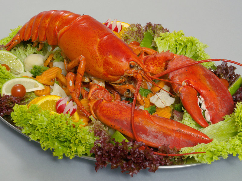 Download Lobster 2 stock photo. Image of lobster, cabbage, delicacy - 6486026