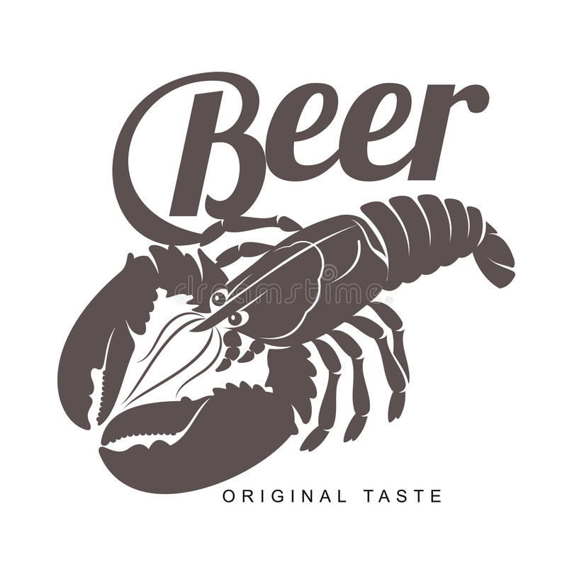 Lobster bar logo vector illustration