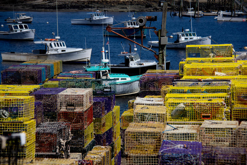 Lobster Boats in Maine. Southwest Harbor, neighboring Acadia National Park on Mount Desert Island, Maine, is home to some of the best lobster fishing in the royalty free stock images