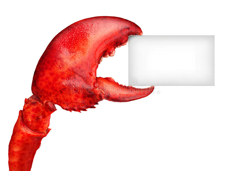 Lobster Claw Sign royalty free illustration