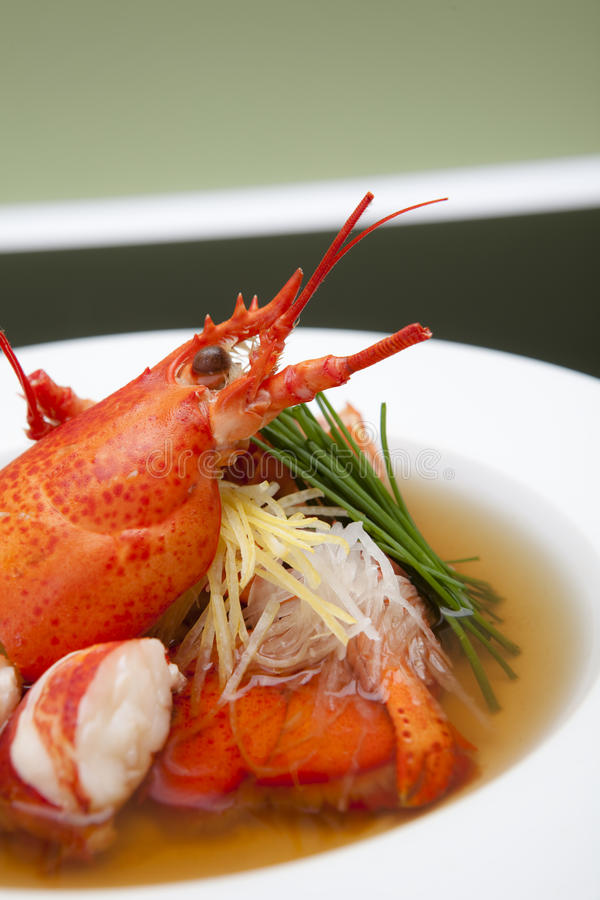 Download Lobster Consomme stock photo. Image of meal, chives, seafood - 11321814