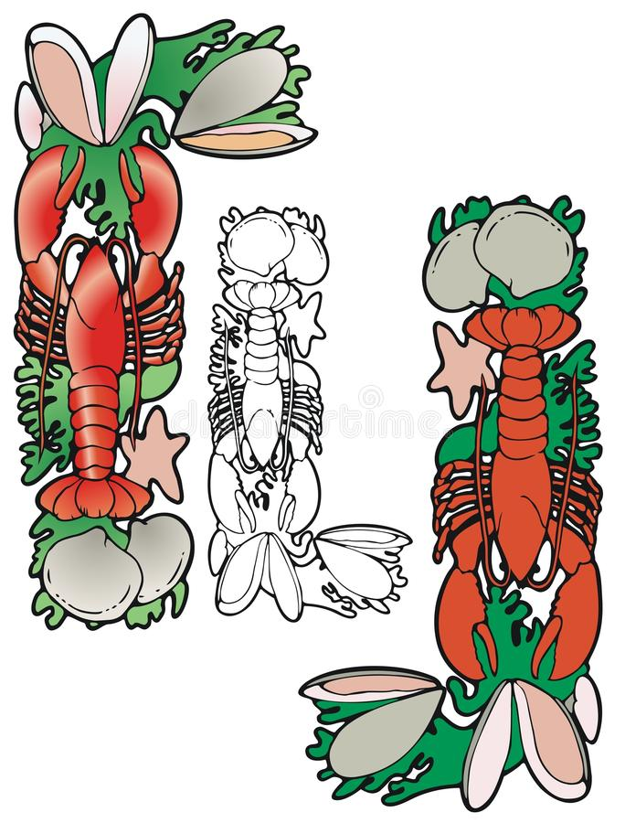 Download Lobster corner stock vector. Image of dinner, food, lobster - 30945598