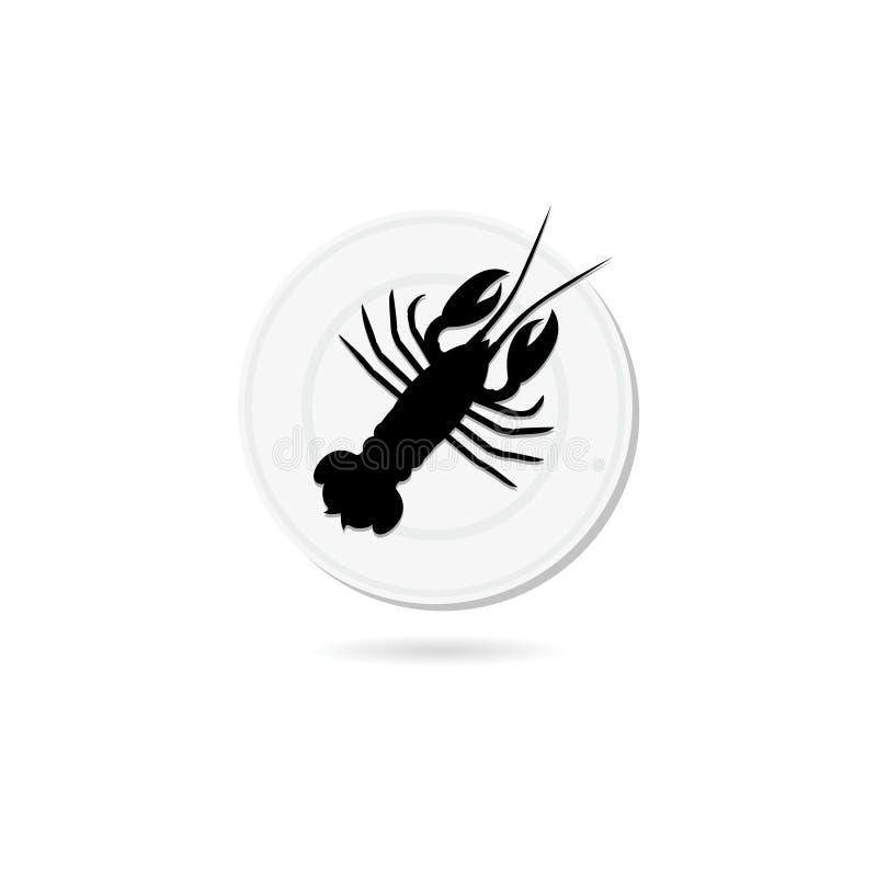 Lobster or crayfish icon. Seafood Restaurant logo royalty free illustration