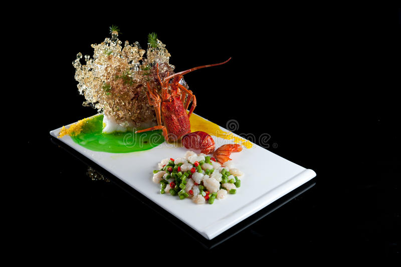Lobster dishes stock image