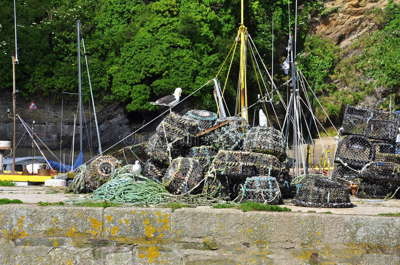 Download Lobster Fishing Gear Creels, Cornwall, England, UK. Stock Photo - Image of britain, fishing: 41528270
