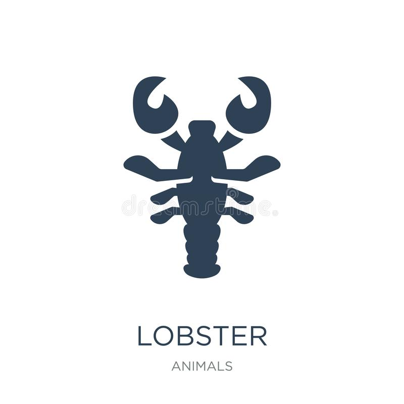 Lobster icon in trendy design style. lobster icon isolated on white background. lobster vector icon simple and modern flat symbol. For web site, mobile, logo royalty free illustration