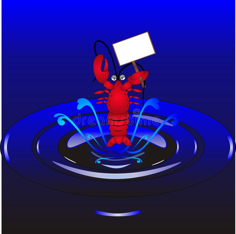 Lobster Illustration Royalty Free Stock Images