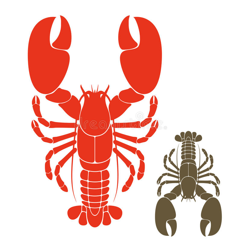 Lobster. Isolated objects on white background. Vector illustration (EPS 10) stock illustration