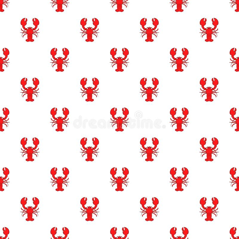 Lobster pattern, cartoon style stock illustration