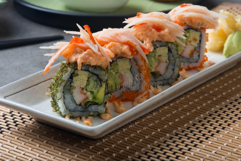 Lobster salad roll sushi stock photography