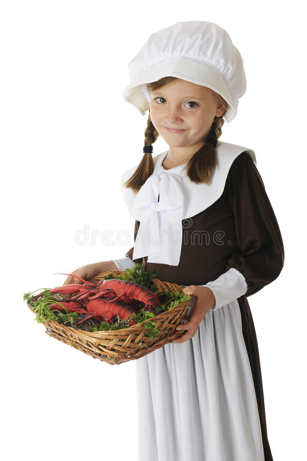 Lobster Serving Pilgrim Royalty Free Stock Photos