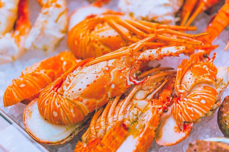 Lobster shrimp for food restaurant stock image
