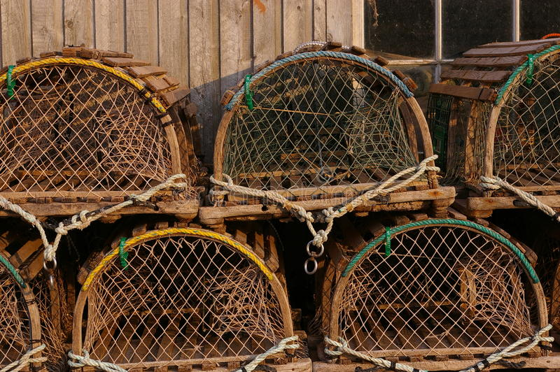 Lobster traps 2 stock photos