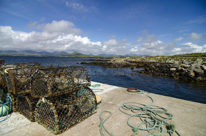 Download Lobster traps stock photo. Image of harbour, ireland - 32954738