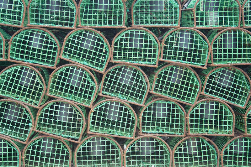Download Lobster Traps Used By Portuguese Fishermen Stock Image - Image: 24582125
