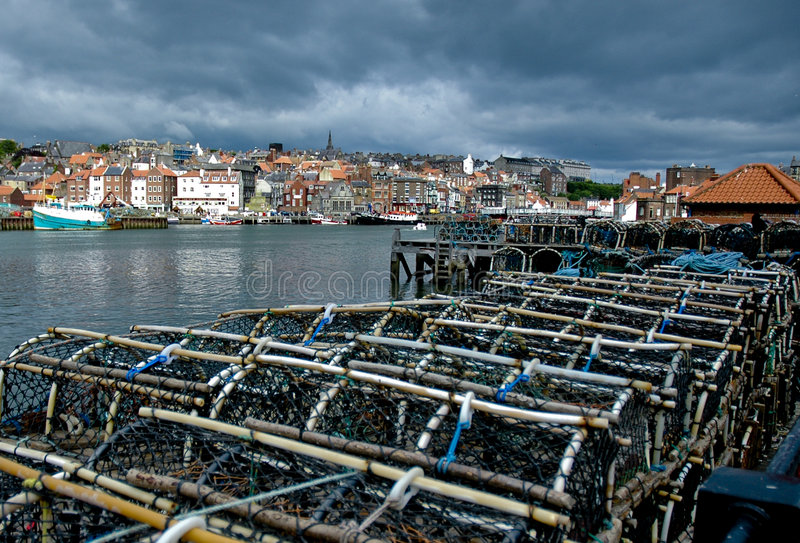 Lobster Traps In Whitby Royalty Free Stock Images