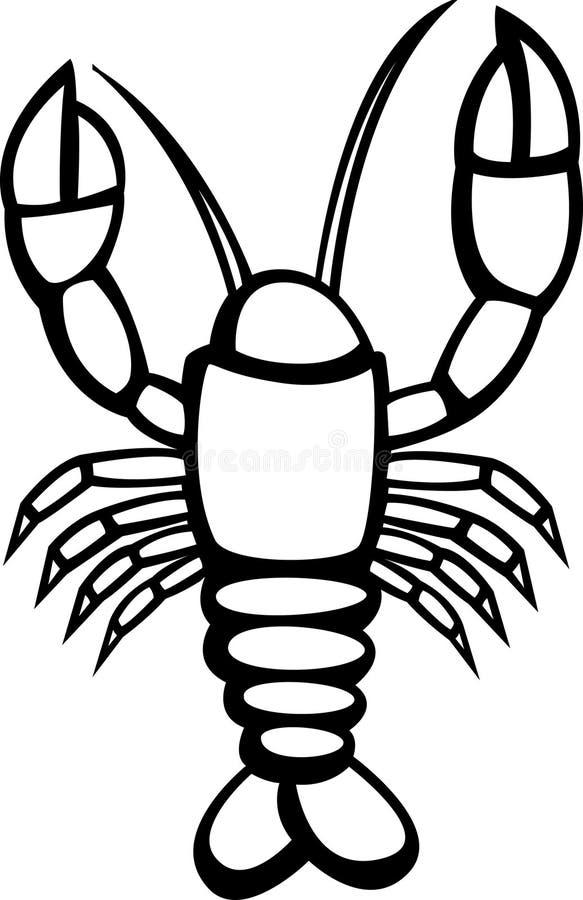 Download Lobster Vector Illustration Stock Vector - Illustration of molluscs, feet: 6109969