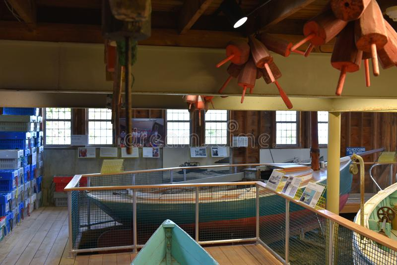 Lobstering maine coast usa maritime museum exposition royalty free stock photo