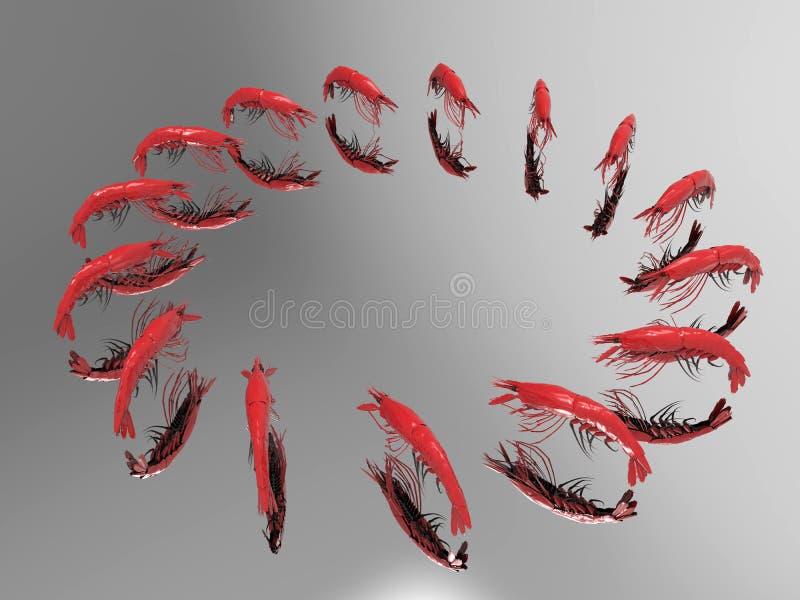 Lobsters reflection vector illustration