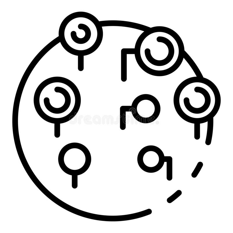 Locais remotos em hospedar o ícone, estilo do esboço ilustração do vetor