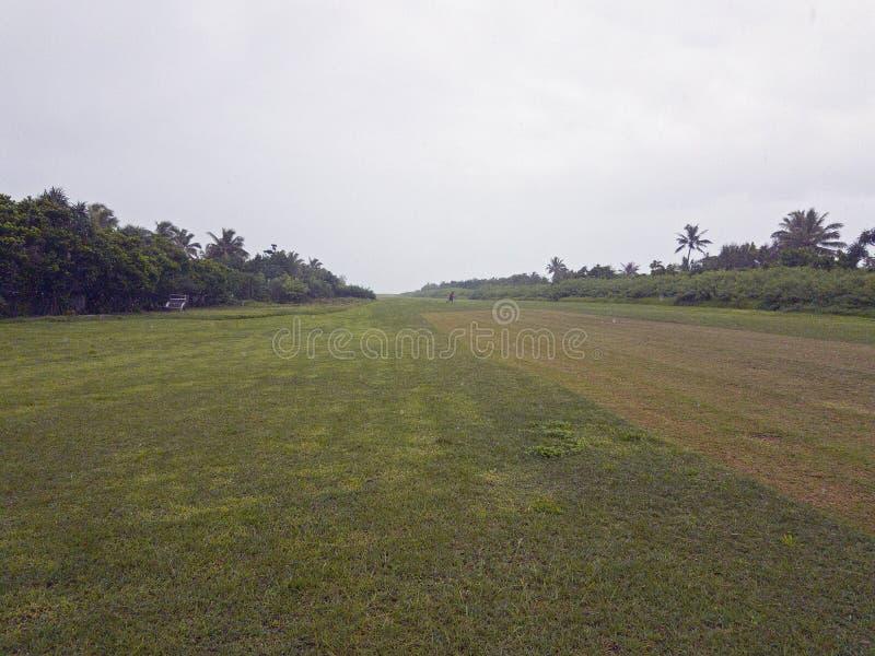 Local Airstrip, Mystery Island, Vanuatu, 2017 stock photo