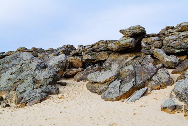 Local antigo arqueológico do túmulo da pedra do mohyla de Kamyana fotografia de stock royalty free