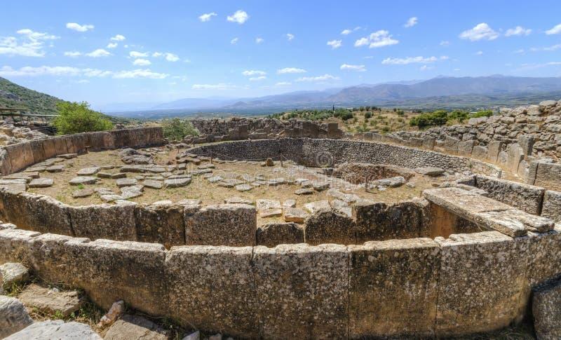 Local antigo de Mycenae, Grécia fotos de stock