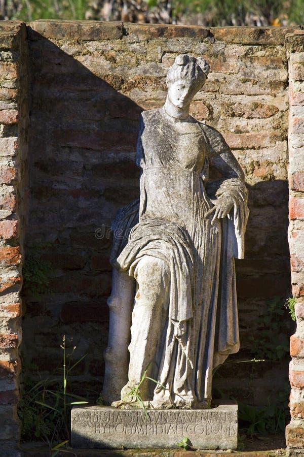 Local Archaeological de Dion em Greece foto de stock