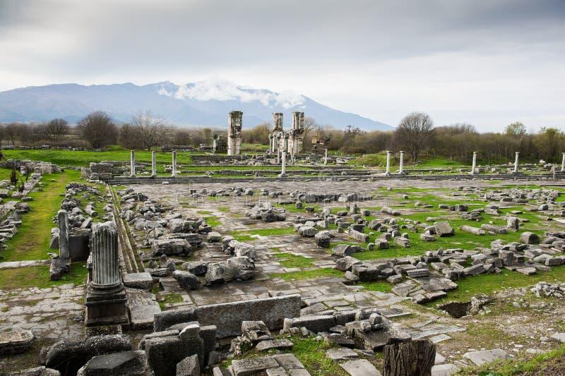Local archaeological de Philippi fotos de stock royalty free