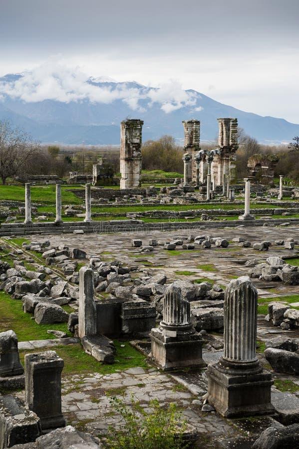 Local archaeological de Philippi fotografia de stock