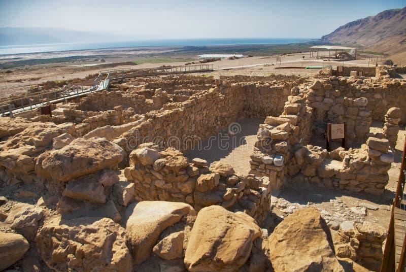 Local Archeological, Qumran, Israel. imagem de stock