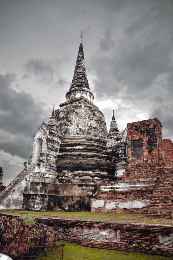 Local arqueológico, Ayutthaya, Tailândia foto de stock royalty free