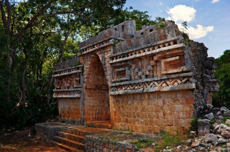Local arqueológico de Labna na península do Iucatão, México fotografia de stock