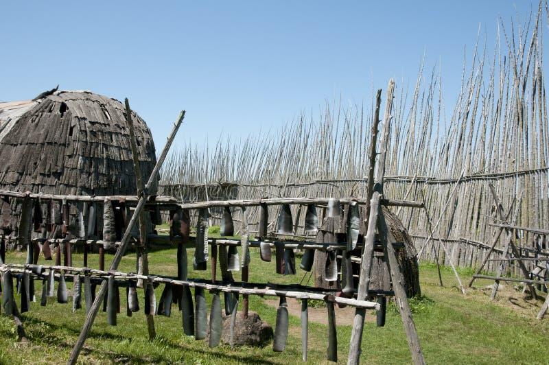 Local arqueológico de Tsiionhiakwatha Droulers - Quebeque - Canadá imagens de stock royalty free