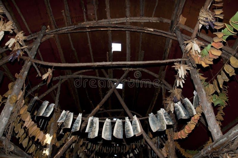Local arqueológico de Tsiionhiakwatha Droulers - Quebeque - Canadá foto de stock