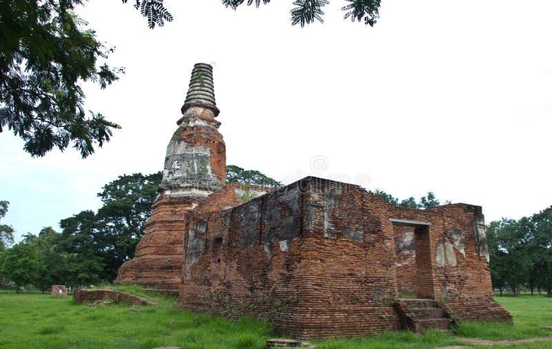 Local arqueológico em Ayutthaya imagem de stock royalty free