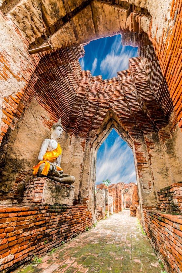 Local arqueológico em Ayutthaya imagens de stock royalty free
