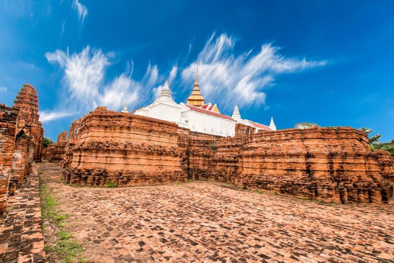 Local arqueológico em Ayutthaya imagens de stock