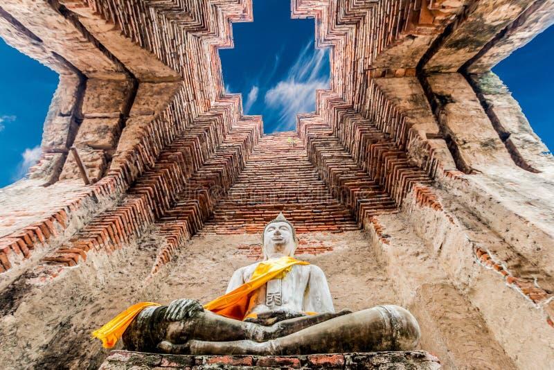 Local arqueológico em Ayutthaya foto de stock