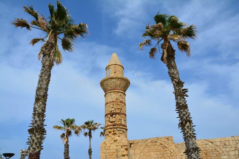 Local arqueológico Israel de Caesarea fotos de stock