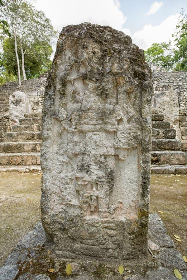 Local arqueológico México de Calakmul imagens de stock