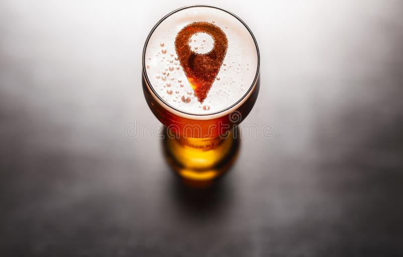 Local beer concept stock images