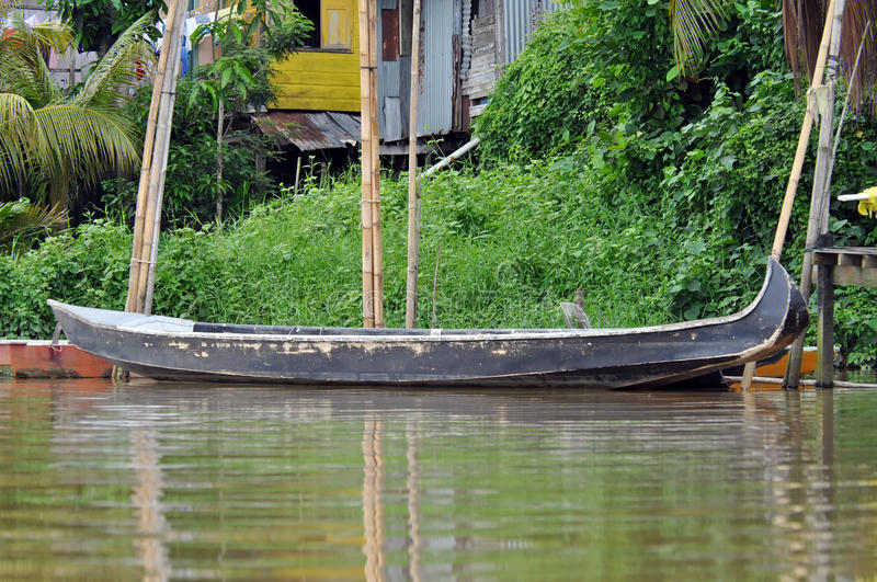 Download Local Boat On The River In Kuching Stock Image - Image of guide, kuching: 22447703