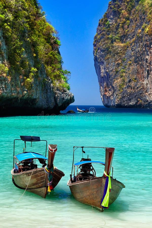 Local boat of Thailand stock photo