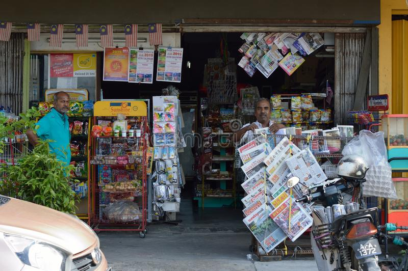 Local Stall or Book Stall. Local book stall can be found almost at small town in malaysia stock images