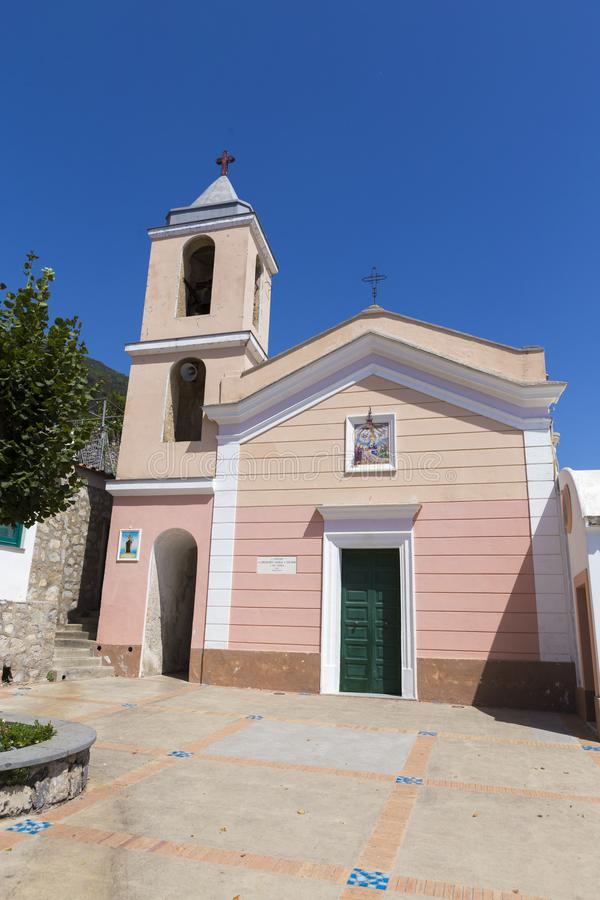 The local church from Nocelle Positano. In Ita royalty free stock photo
